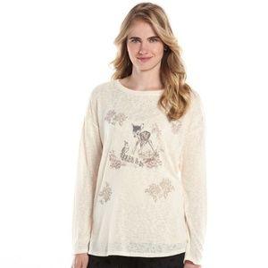 LC Lauren Conrad & Disney Cream Bambi Sweater